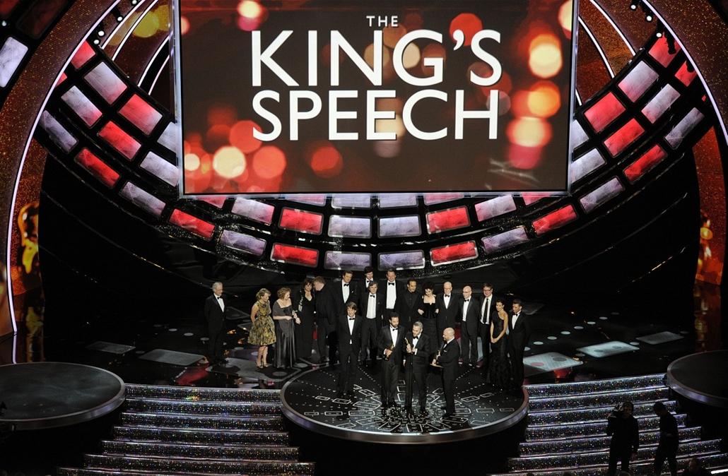 A király beszéde - Iain Canning, Emile Sherman és Gareth Unwin a 83. Oscar Gálán