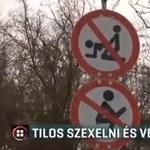 Fura tiltótáblák jelentek meg egy Zala megyei tanyára vezető úton