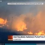 Elkeserítő videón a fonyódi nádastűz pusztítása, szándékos gyújtogatás okozhatta a katasztrófát
