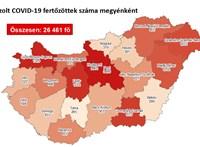 894 új koronavírus-fertőzöttet találtak, nyolcan haltak meg