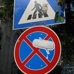 Budapesti street art: Vérzik az utca