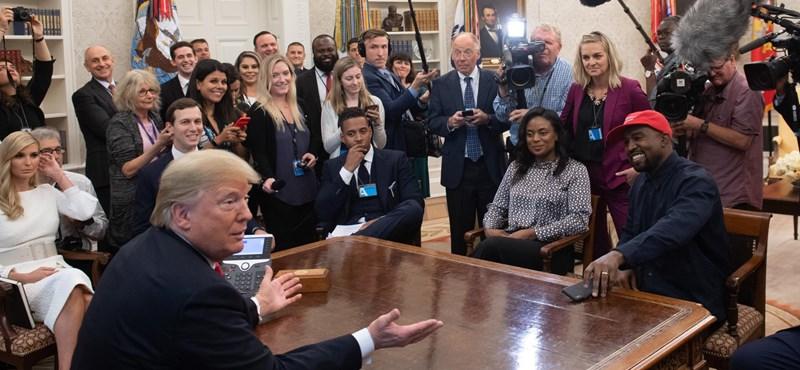 Egészen bizarr beszédet nyomott le Kanye West a Fehér Házban