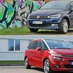 Családbarát minibuszok: VW Touran és Citroen C4 Grand Picasso-teszt