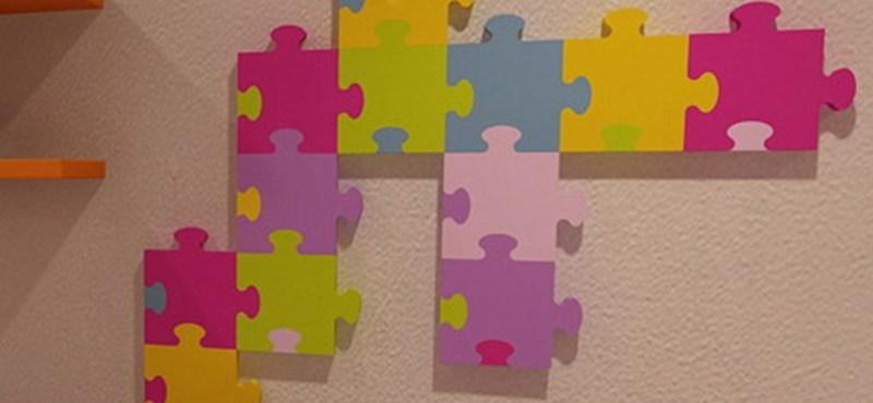 Színes puzzle-radiátor! Játékos fűtőtest gyerekszobába