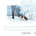 Google Doodle - a világ legnagyobb hópelyhe