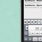 iOS tipp: domain nevek végződéseinek gyorsabb beírása iOS-en a mobil Safariban