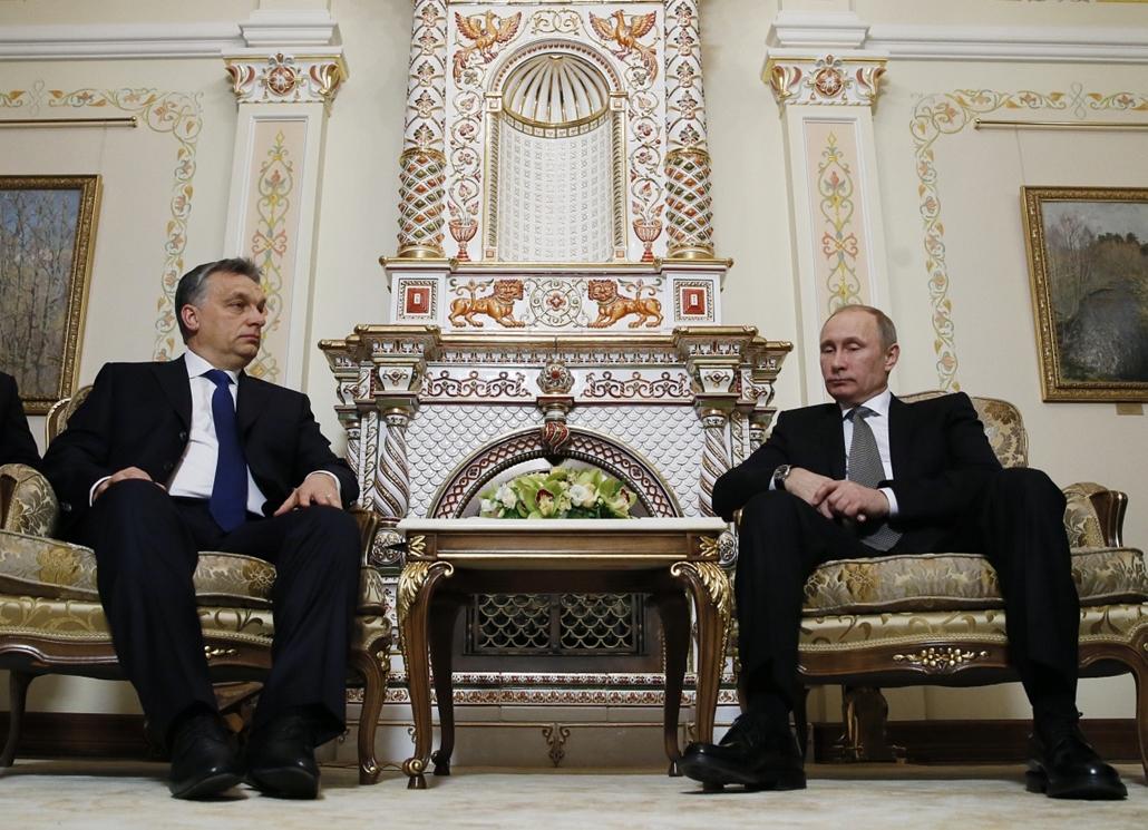 20140114004 - afp. Orbán Viktor Moszkvában, 2014.01.14. Moszkva, Novo-Ogarjovo, Vlagyimír Putyin
