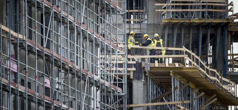 KSH: Ötödével csökkent az építőipari termelés