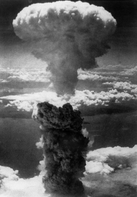 afp.1945. - A Nagaszaki városát elpusztító ''Fat Man'' bomba gombafelhője - atombomba 70, Nagaszaki, Nagasaki, Hirosima, Hiroshima