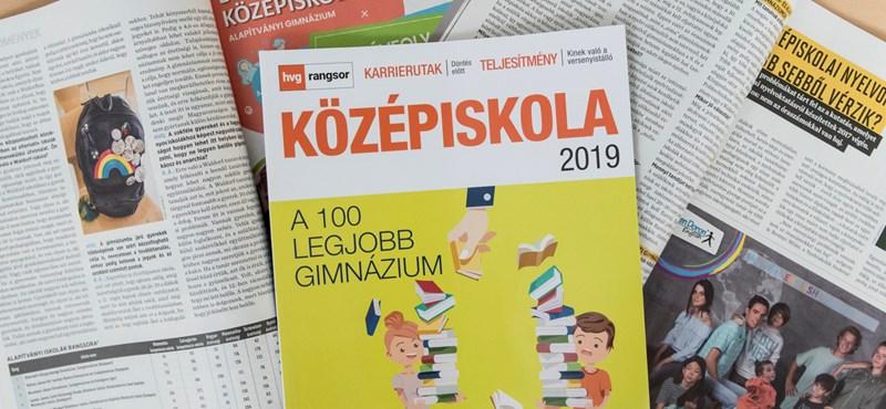 Itt a HVG 2019-es középiskolai rangsora, az élen a Radnóti Miklós Gimnázium