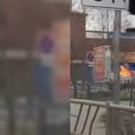 Lángoló teherautóval hajtott be a tűzoltóságra segítségért egy orosz autós