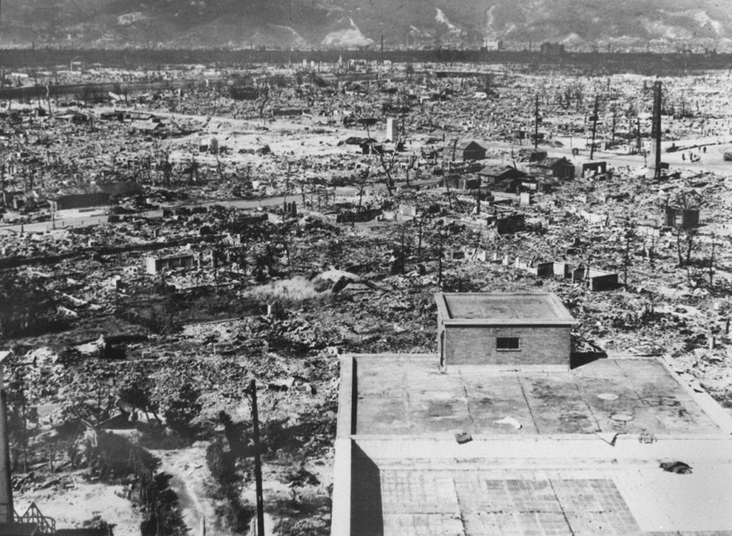 afp.1945.- Hirosima városa az atombomba ledobás után - atombomba 70, Nagaszaki, Nagasaki, Hirosima, Hiroshima
