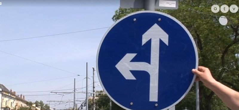 Rejtélyes táblaforgató veszélyezteti a közlekedést Debrecenben