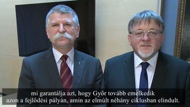 Szürreális videón kampányol Kövér a Fidesz győri jelöltje mellett