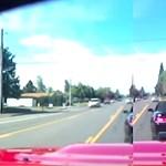 Instant karma: fékezgetett az autós előtt, végül egy fán kötött ki – videó