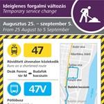 Buszokkal pótolják a 47-es villamost egy ideig Budafokon