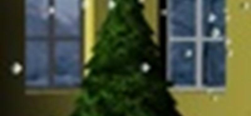 Karácsonyi hógömb iPhone-ból