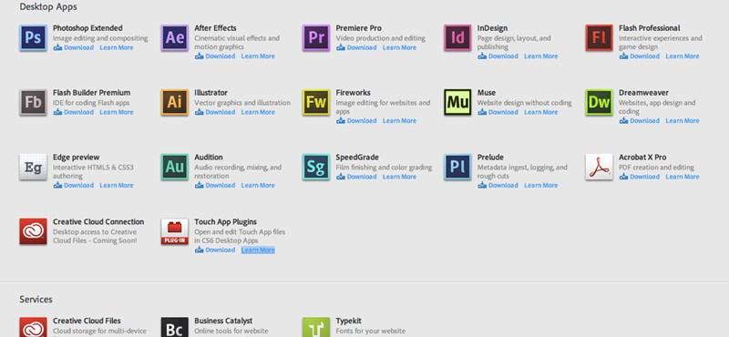 Kipróbáltuk: Adobe Creative Cloud, első nekifutásra