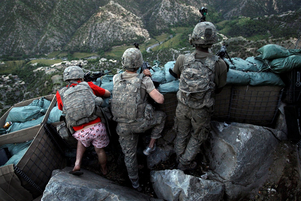 Amerikai katonák Afganisztánban 2009 május 11-én.