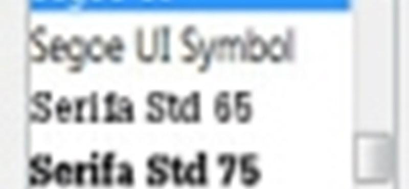 15 év kellett hozzá: beépített betűtípus-előnézet a Windows 7-ben