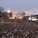 Fotó: tűz pusztított egy libahodályban Kiskunfélegyházánál