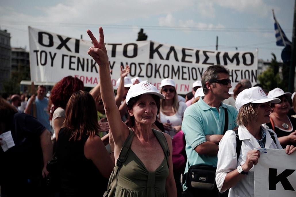 Görögország, Athén, Sztrájk, hét képei