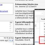Tipp: dokumentum készítése e-mailből, Gmailben
