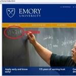 Kínos baki az egyetemi honlapon - a nap képe