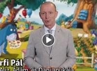 Győrfi Pál cukiskodó videóban üzen a gyerekeknek is