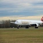 Ritkán látott óriásgépet avatott Ferihegyen az Emirates - fotó