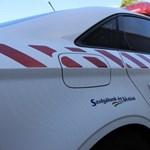 Kigyulladt egy autó, forgalomkorlátozás az M7-esen