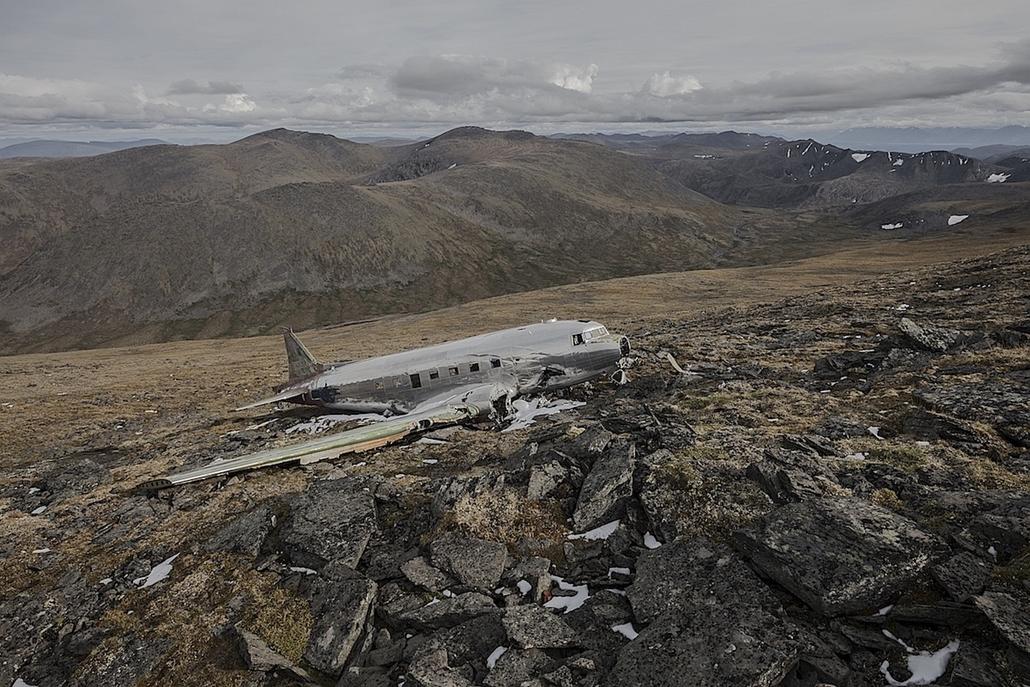NE HASZNÁLD!! nagyításhoz kértük a fotóstól - e. lezuhant repőlő, happy end - happy end 1 4, Douglas C-47, Feb 1950, Yukon Canada