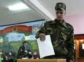 Fehérorosz elnökválasztás: kiszorították a tüntetőket Minszk belvárosából