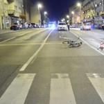 Elgázoltak egy biciklist Újpesten