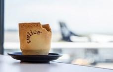 Így is lehet: ehető pohárban érkezik a kávé az egyik légitársaságnál