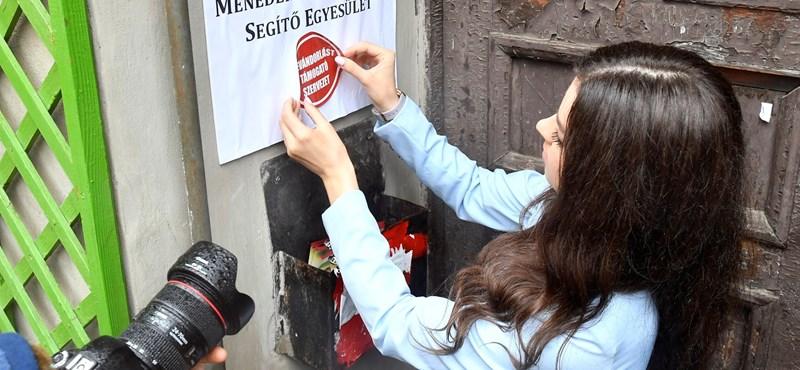 Csillagos házat ragasztottak le a Hollikot utánzó ifjú kereszténydemokraták