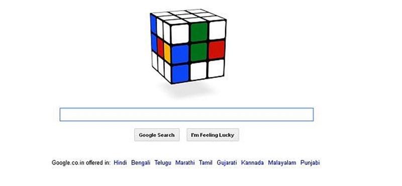 Előkelő helyen végzett a Google Rubik-kockás logója