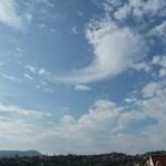 Valami történt a felhőkkel Budapest felett – fotók, műholdképek