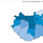Térképek: kettészakadt az ország, ha a fizetéseket nézzük