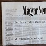 Ilyen az első kormánykritikus Magyar Nemzet