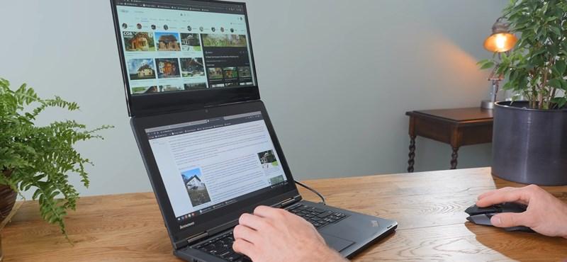 Ez az ezermester youtuber csinált egy második képernyőt a laptopjának