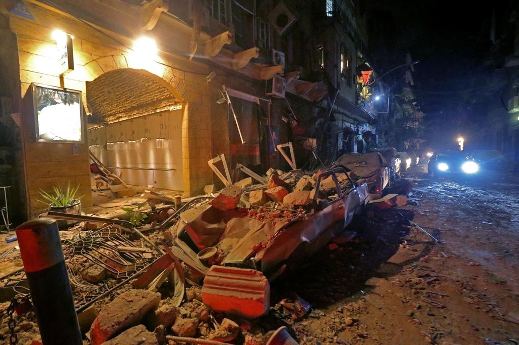 afp.20.08.04. Beirut, bejrút, robbanás, robbantás