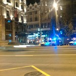 Lezárták a Ferenciek terét bombariadó miatt
