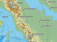 6,6-os erősségű földrengés volt Szumátránál
