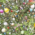 Több mint látványos: tízezer színes tojást aggattak egy fára