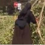 Ez az igazi apácashow: láncfűrészes nővér takarít a hurrikán után – videó
