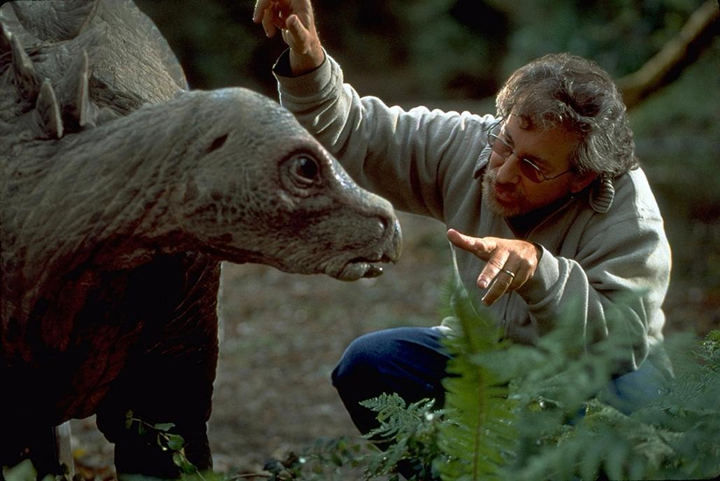 AFP -  1997. Steven Spielberg, Az elveszett világ: Jurassic Park forgatásán