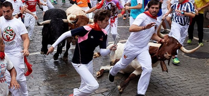 Öt sérült az idei pamplonai bikafuttatás mérlege