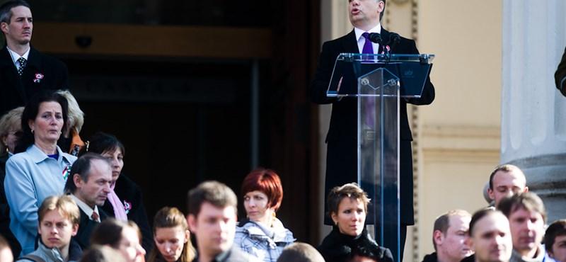 Többen rosszul lettek Orbán beszéde alatt