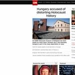 A Sorsok Házáról és fideszes történelemmanipulációról ír címlapján a CNN